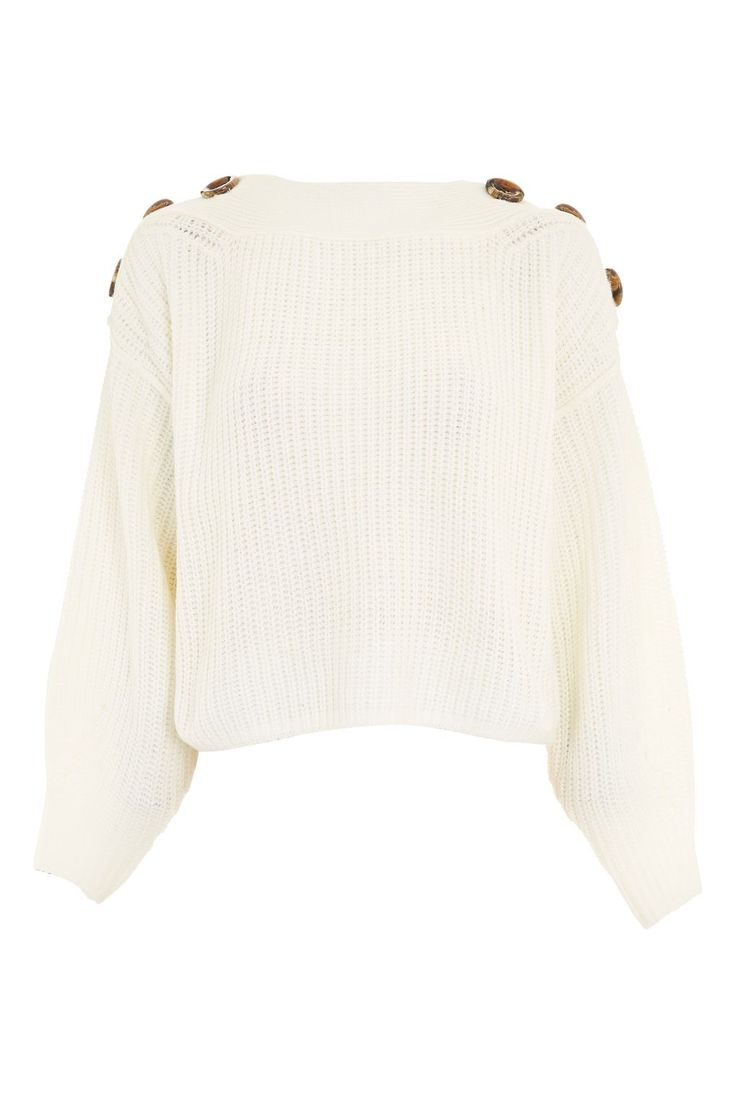 Button Slash Neck Jumper - Topshop  http://rstyle.me/n/ctpa7yv7iw