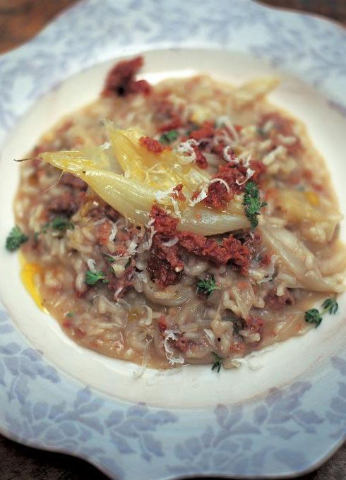 risotto of sweet white onions, cotechino sausage & thyme (risotto con cipolle bianche dolci, cotechino e timo) | Jamie Oliver | Food | Jamie Oliver (UK)