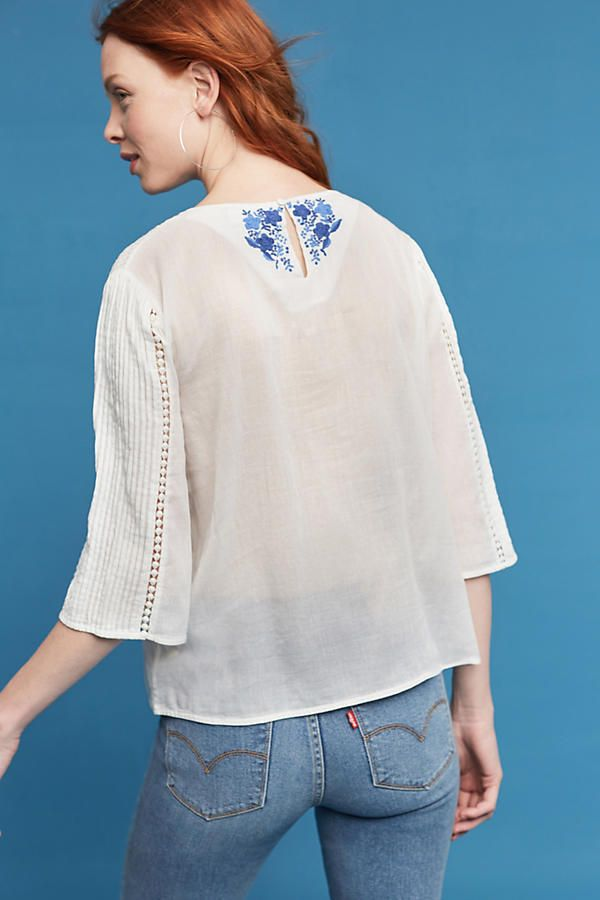 Slide View: 4: Edie Embroidered Blouse