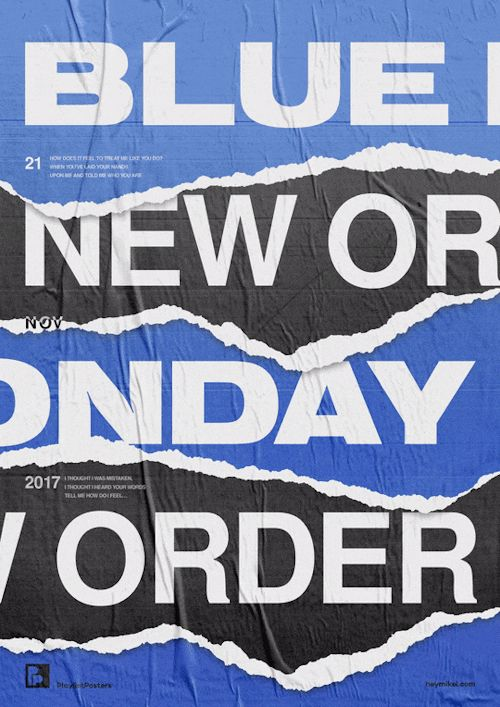 playlistposters: Playlist posters // blue monday - new order
