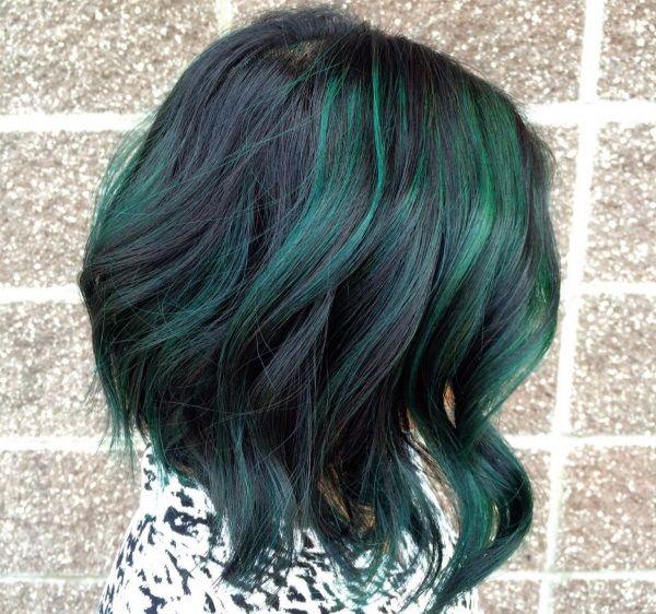 Συλλογή από πράσινα μαλλιά