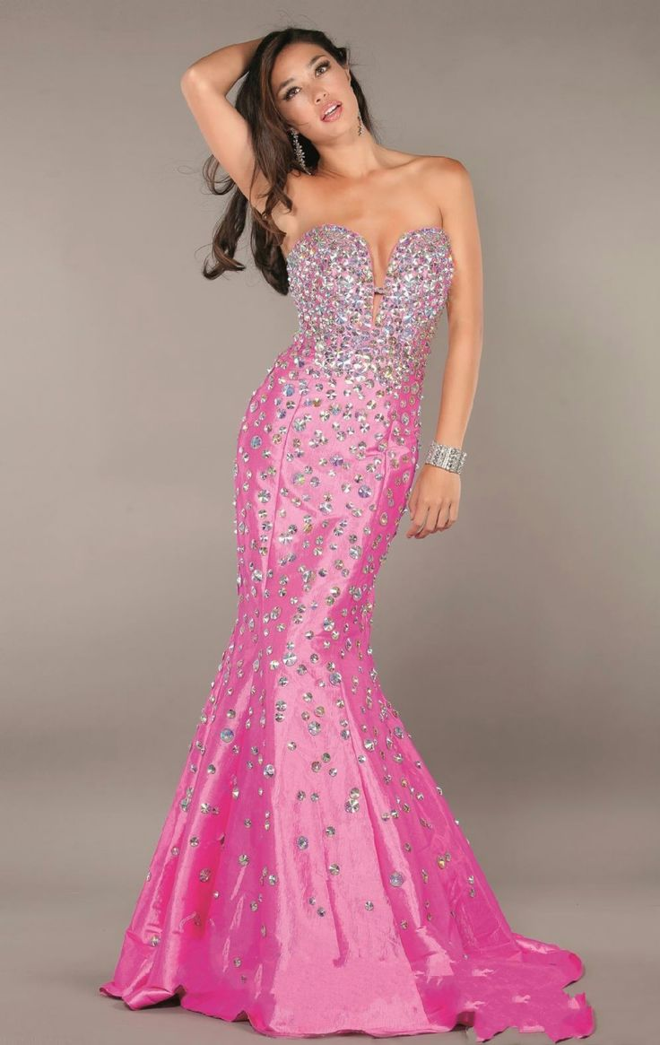 Hot Pink Wedding Dresses Hot Pink Mermaid Wedding