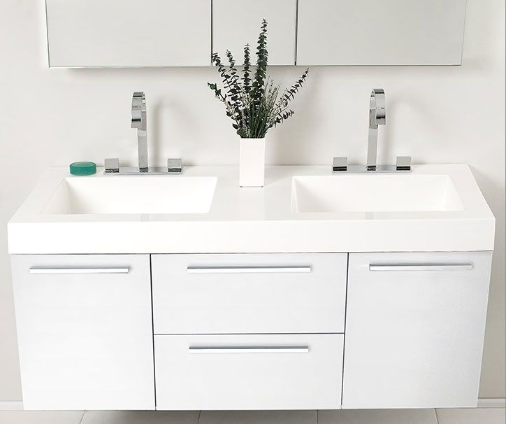 Pin By Helene On Bathroom Design Double Sink Bathroom Cabinets