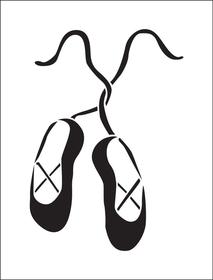 Pochoir danse. Ballerines. Chaussons de danse. Pochoir ballerines (ref 308)