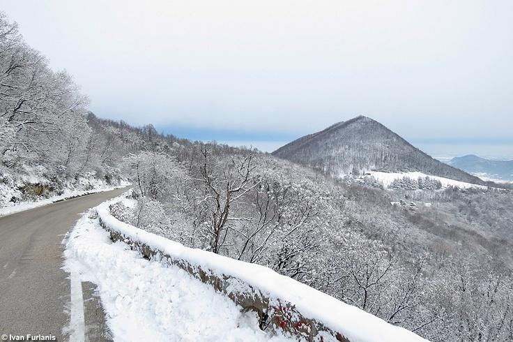 Colli #Euganei...sotto la #neve