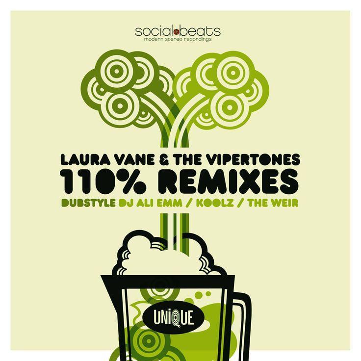 """Laura Vane & The Vipertones """"110% Remixes"""" (Remix Album)"""