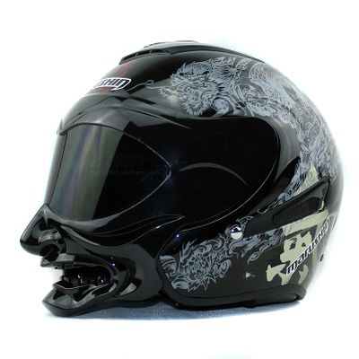 pas cher marushin c609 cr ne bushido conception moto casque de s curit casque avec grande. Black Bedroom Furniture Sets. Home Design Ideas