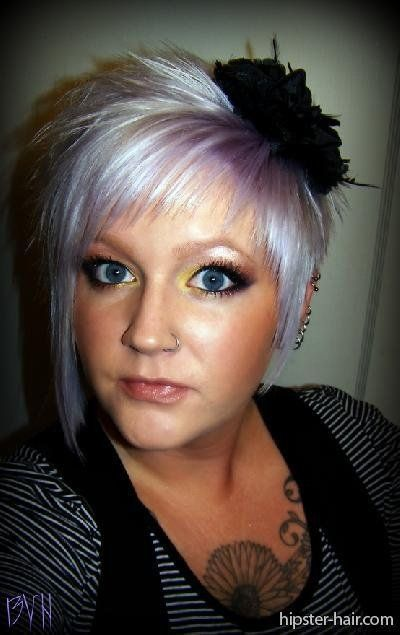 Funky Grey Hair Google Search Short Hair Styles