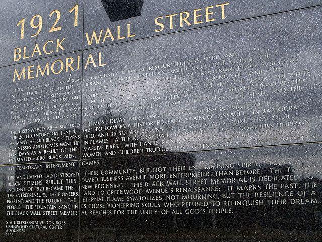 tulsa race riot 1921 | 1921 Tulsa 'Black Wall Street' Memorial | Flickr - Photo Sharing!