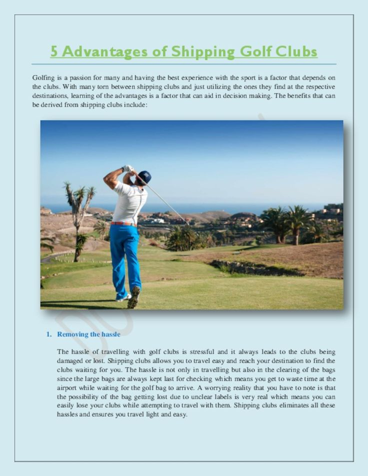 In Golf travel, Luggage and baggage is like a headache and hassle for our vacation and enjoyment, in this case Golf Shipping Company is the best option for Mailing our Golf Club anywhere, Here the 5 steps really helpful when you will travel Golf Play. Ship Your Golf Bag and enjoy your moment.