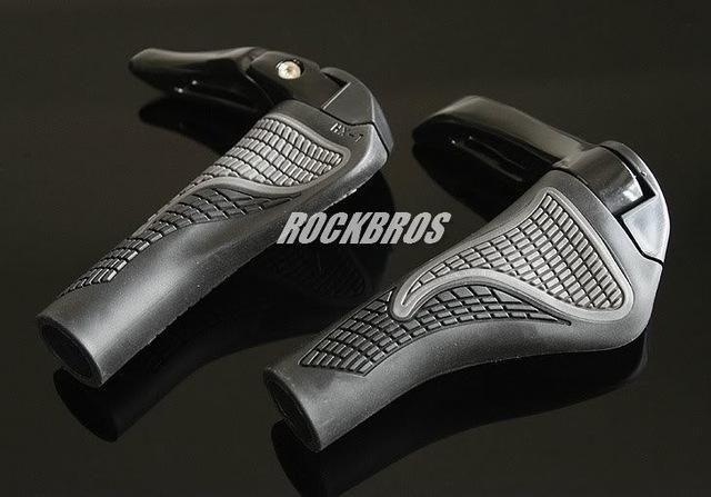 ROCKBROS MTB Bike Lock-on Handlebar Grips Rubber /& Aluminum Barend Bar End Black
