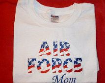 Embroidered Air Force Mom T Heavy weight T shirt
