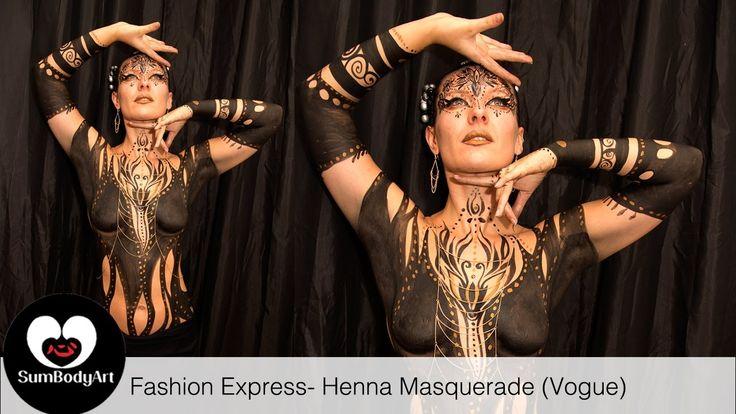 SumBodyArt's Fashion Express- Henna Masquerade (Vogue)
