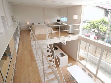 This open plan house, designed by Kazuhiko Namba and sponsored by Muji