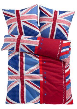 Biancheria da letto «Flag», 2 pezzi, 1x 80/80 cm + 1x 135/200 cm, Linone