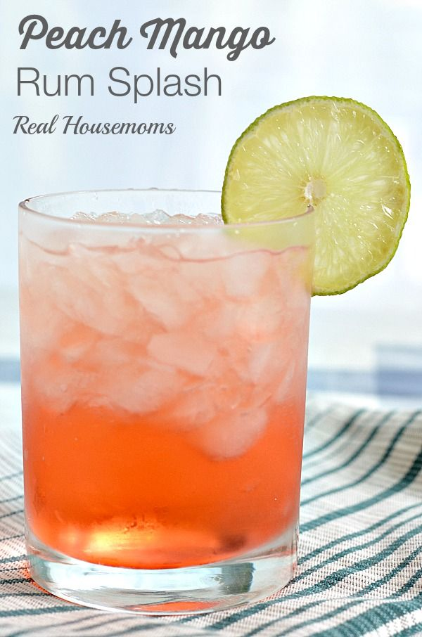 Peach Mango Rum Splash | Real Housemoms | #cocktail #rum