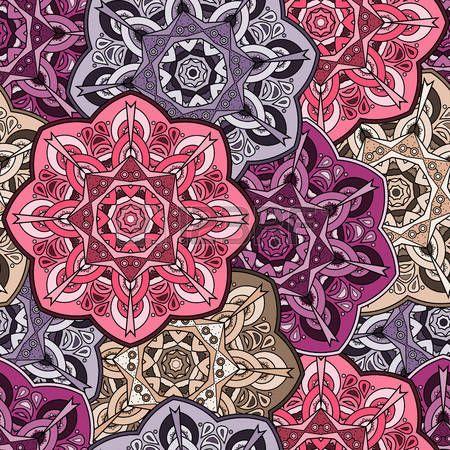 Modelo incons�til colorido de la vendimia oriental mandala. estilo de las Indias Orientales. Fondo hermoso para la tarjeta, invitaci�n, cumplea�os, d�a de madre, de boda, textiles, papel de envolver. ilustraci�n. photo