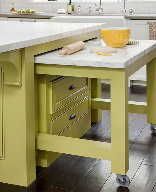 21 best small room kitchen tables images on pinterest for Hidden kitchen storage ideas