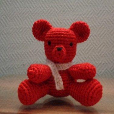Orso rosso amigurumi 2