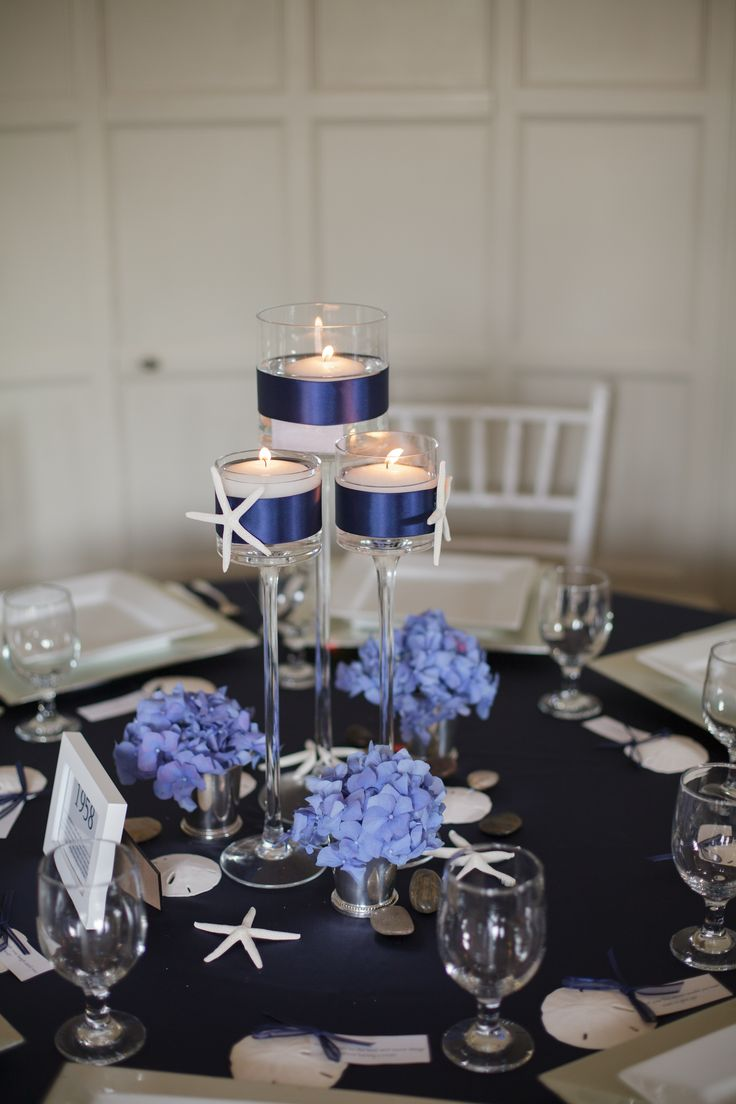 Nautical Wedding Centerpieces | nautical candle wedding centerpiece