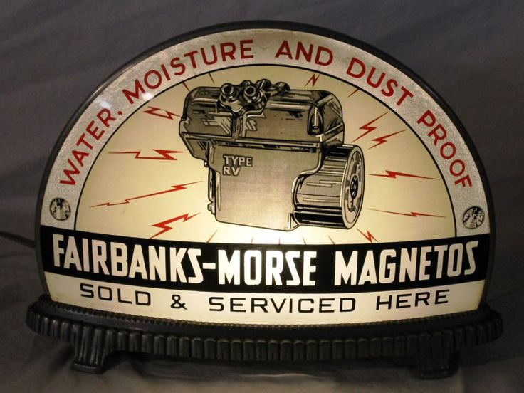 Fairbanks Amp Morse Magnetos Gillco Lighted Sign
