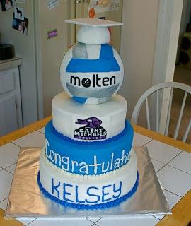 Volleyball Cake #cakesbymeg