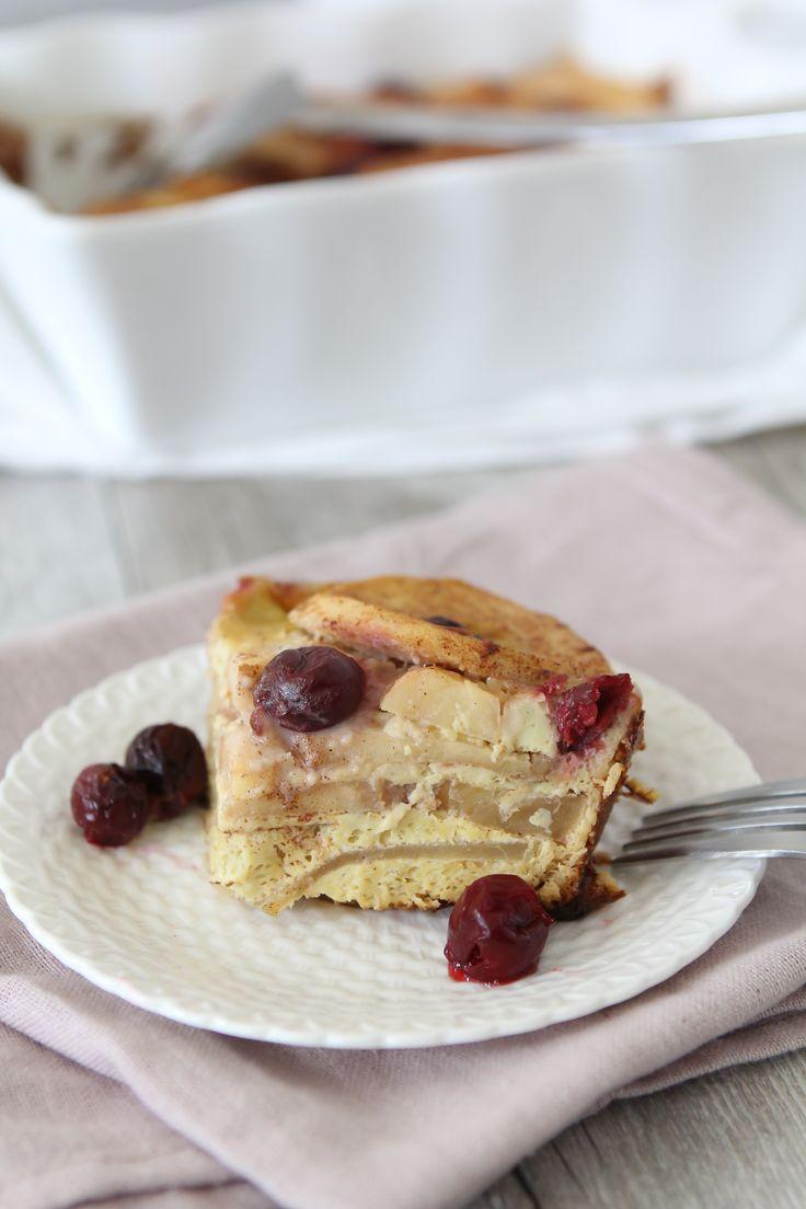 Apple + Cherry Frittata - gluten free - paleo - the Whole Smiths