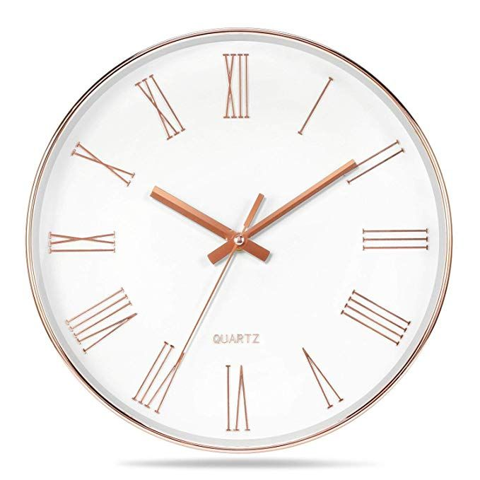 Vitaa 12 Inch Morden Decorative Silent Non Ticking Quartz Wall Clock For Living Room Kitcken Office School Bathroom Plastic Wall Clock Wall Clock Modern Clock