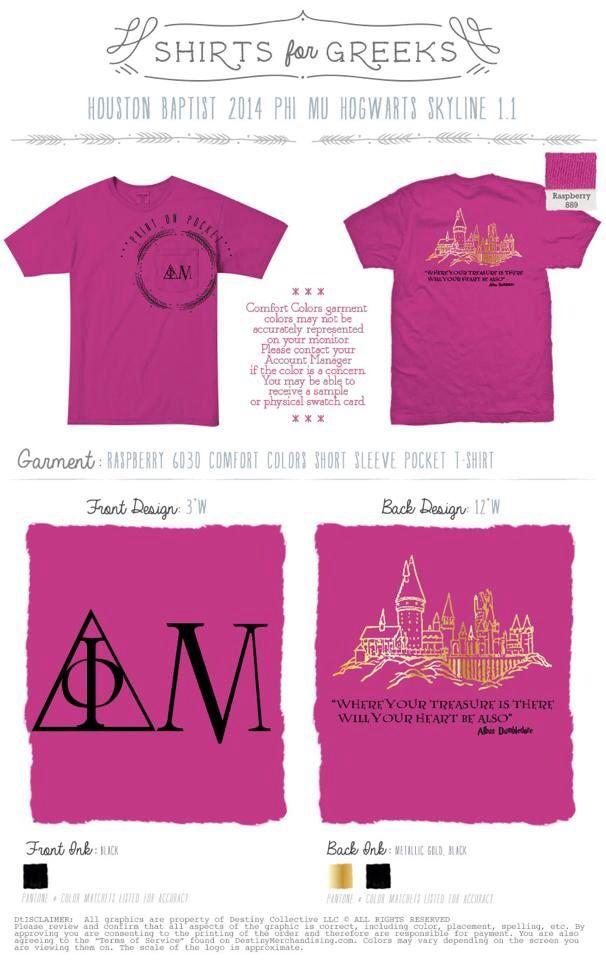 Another hogwarts phi mu shirt