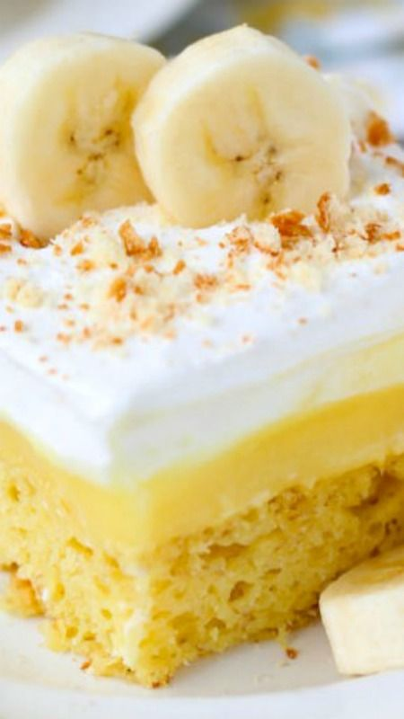 Easy Southern Banana Pudding Cake ~ it tastes as good as it looks