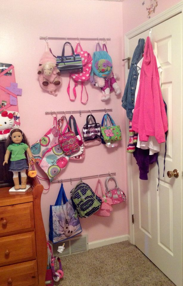 small curtain rods and shower curtain hooks for purses and space saver