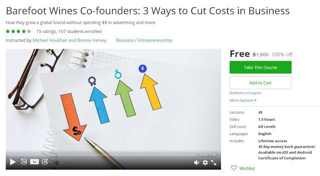 Coupon udemy barefoot wines co founders 3 ways to cut costs in coupon udemy barefoot wines co founders 3 ways to cut costs in business 100 off course discounts free bussiness pinterest barefoot wine and malvernweather Image collections