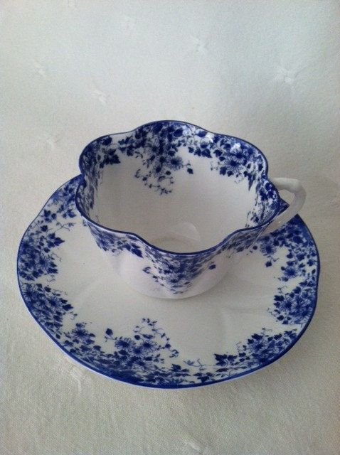 {Beautiful Cup, A little pricey} Shelley Dainty Blue Fine Bone China Tea Cup and by MariasFarmhouse, $135.00 I have this cup and saucer.