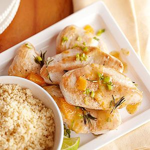 Lime and Tangerine Chicken Breasts This easy chicken dish is low in calories, fat, and sodium yet full of fresh herb and citrus flavor.