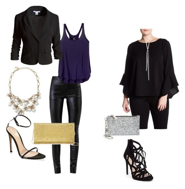 """""""Night out, holiday party"""" by mandy-curtis on Polyvore featuring Helmut Lang, prAna, Sans Souci, Gianvito Rossi, Glamorous, Tory Burch, Sondra Roberts, Jessica Simpson and plus size clothing"""
