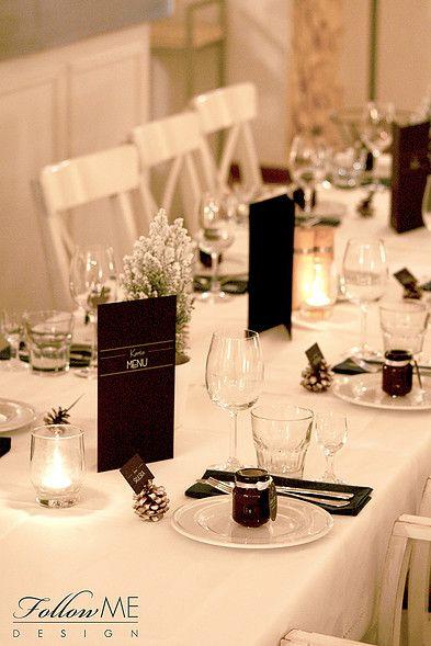 Dekoracje stołów weselnych / Zimowe dekoracje ślubne od FollowMe DESIGN / Wedding Table Decorations / Winter Wedding Decorations & Details by FollowMe DESIGN