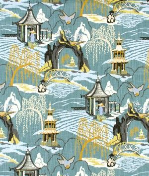 Robert Allen @ Home Neo Toile Cove Fabric | onlinefabricstore.net