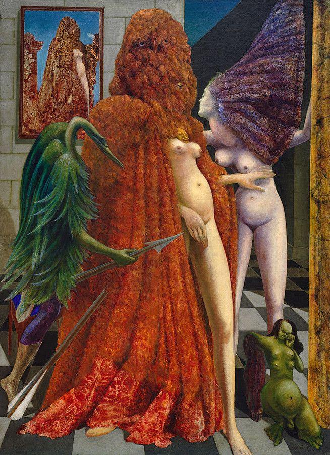 Collection Online | Max Ernst. Attirement of the Bride (La Toilette de la mariée) (L'habillement de l'épousée (de la mariée)). 1940 - Guggenheim Museum