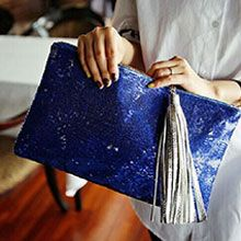 2014 New Fashion Free Shipping Dazzling Sequins Tassel Handbag Party Evening Bag Wallet Purse Glitter Spangle Day Clutches