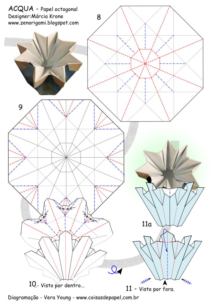 1477 best origami images on pinterest paper art papercraft and 02 diagram acqua octagon mk pg 3 mightylinksfo