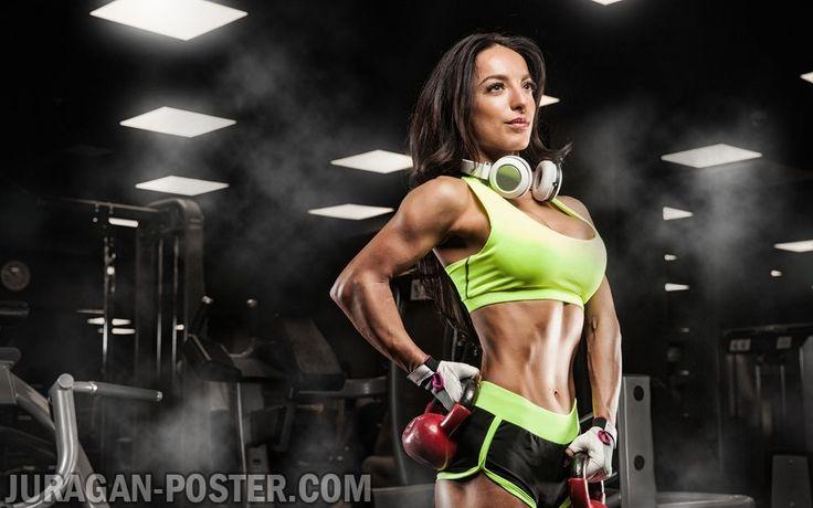 Jual poster bodybuilding wanita poster fitness poster for Gimnasio 7 de fitness badalona