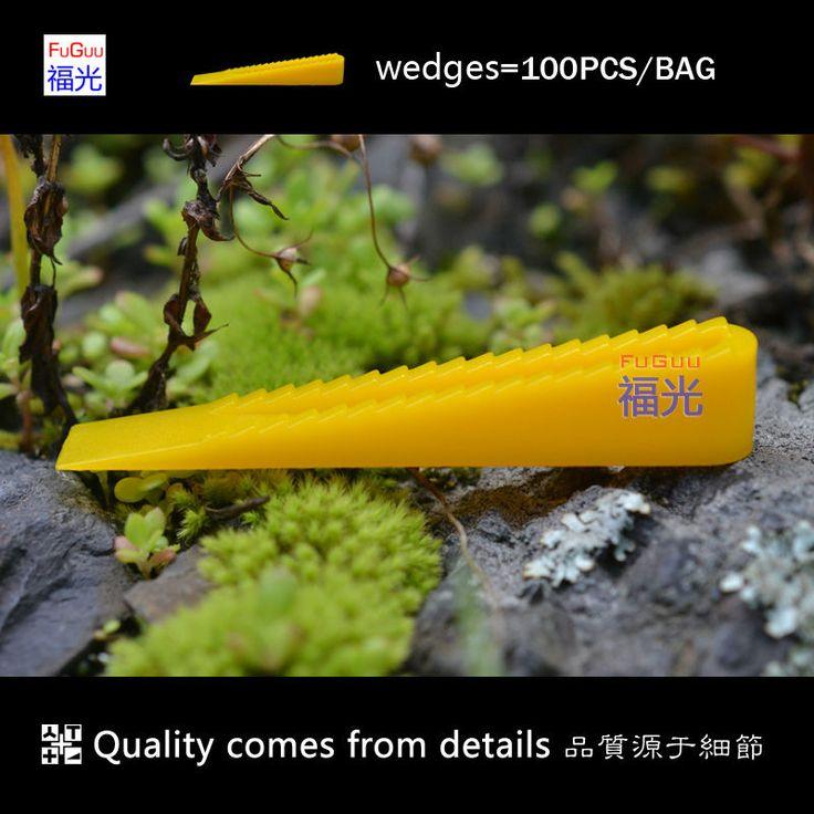 Sistema de nivelación tile cuñas amarillas 100 unids/bolsa FG-1