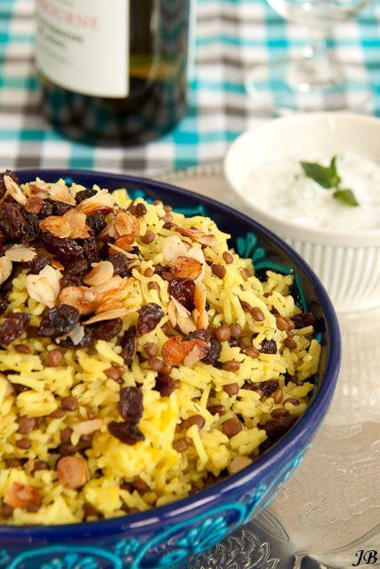 Carolines blog: Perzische rijst met linzen