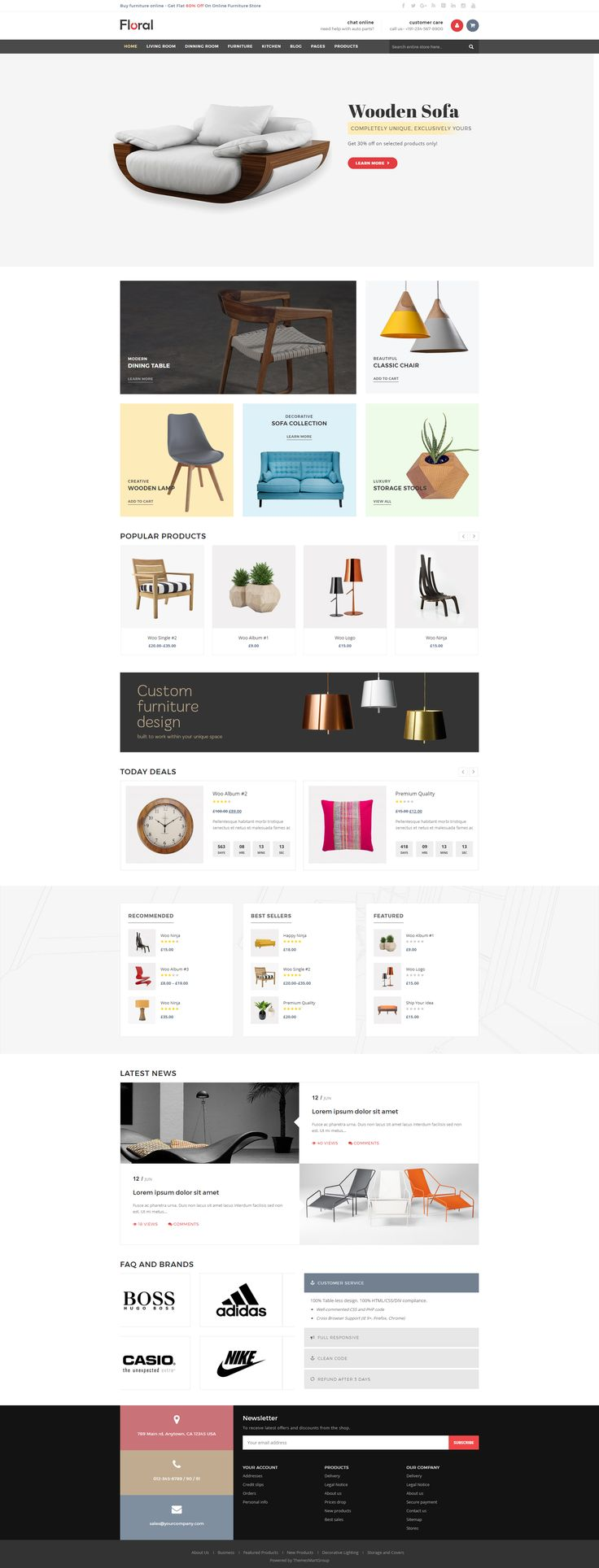 Floral is the best premium #WordPress theme for furniture and interior #websites with the amazing loading speed, SEO optimization and a lot of #eCommerce features. It suits for any kind of furniture shops, decor stores, interior stores, tool shops, etc. #design #theme