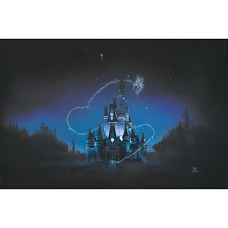 ''40 Magical Years'' Cinderella Castle Giclée by Noah | Giclees | Disney Store