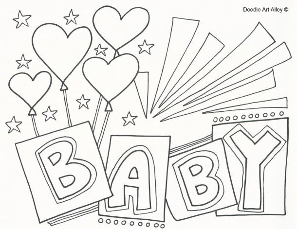 Baby Shower Coloring Pages For Kids Baby Coloring Pages Coloring Pages Congratulations Baby