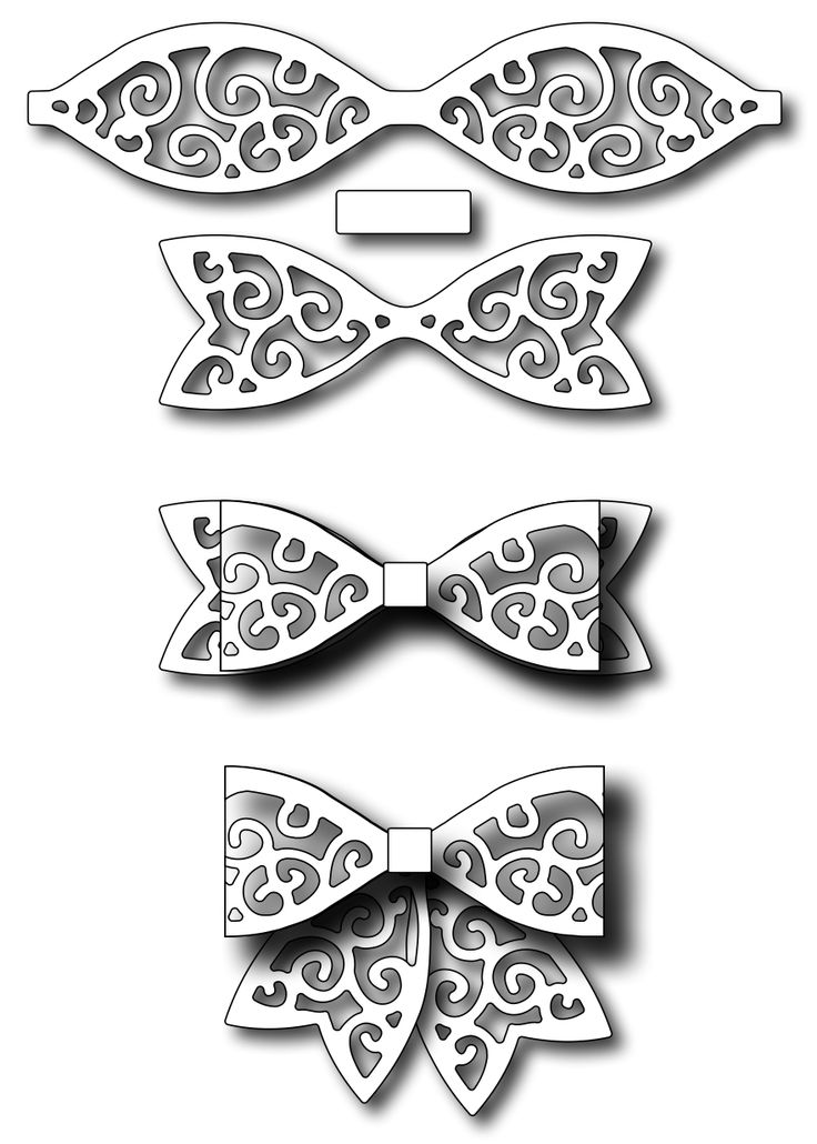 Frantic Stamper - Precision Dies - Small Swirl Paper Bow,$9.99