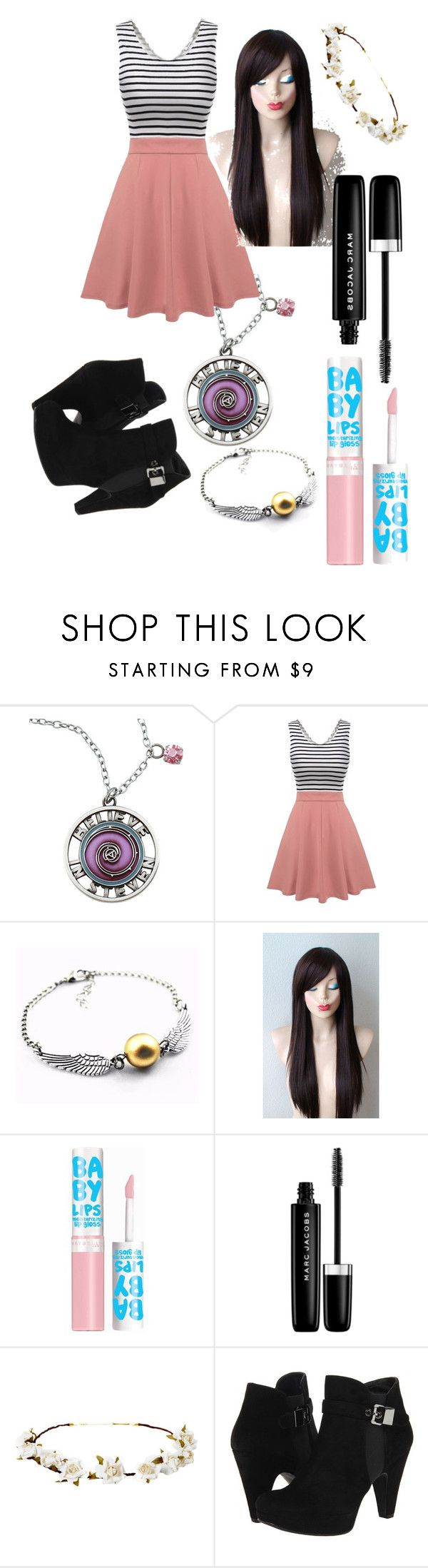 """""""Untitled #414"""" by louis-tomlinson-fan-226 ❤ liked on Polyvore featuring Cartoon Network, Maybelline, Marc Jacobs, Cult Gaia and Stuart Weitzman"""