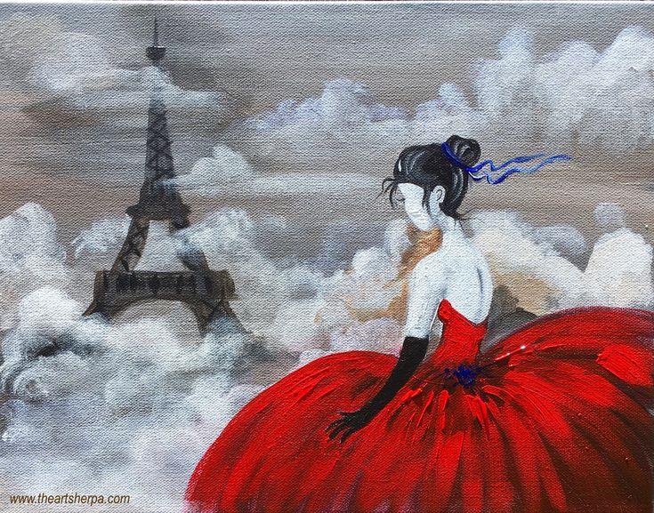 Full beginner Acrylic tutorial on canvas of La Fille en Rouge by the art sherpa for youtube  https://www.youtube.com/watch?v=AayiIC7WwLM