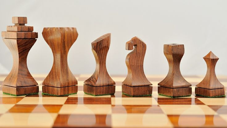 Unique Square Base Shesham Wood Staunton Chess Set